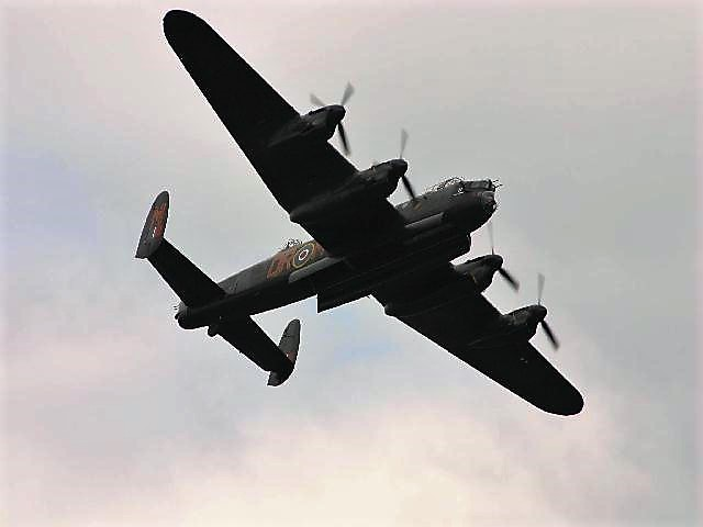 A Lancaster in flight