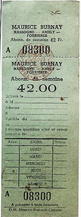 NASSOGNE TICKET